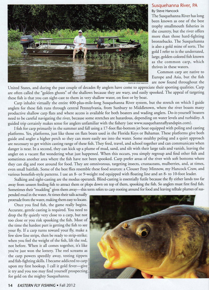 Fishing report for susquehanna river fly fishing and spin for Eastern fly fishing magazine